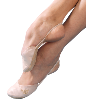 Grishko Alina 05052L leather beige half shoes; size XS (26-28)