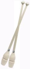 Булавы PASTORELLI, 45,2 см, резино-пластиковые. Цвет: белый, Art. 00222
