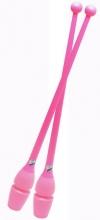 Булавы PASTORELLI, 45,2 см, резино-пластиковые. Цвет: розовый, Art. 00223