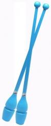 Булавы PASTORELLI, 45,2 см, резино-пластиковые. Цвет: голубой, Art. 00224