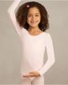 Body Wrappers BWC126 Classwear Long Sleeve Ballet Cut Leotard, color: Light Pink