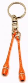 Pastorelli Glitter Orange miniclubs key ring, Art. 02288