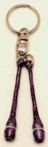 Pastorelli Glitter Violet miniclubs key ring, Art. 02325