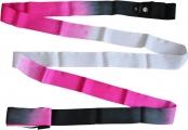 Shaded ribbon PASTORELLI, 6 m. Colour: Black-Fuchsia-White, Art. 02867