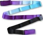 Shaded ribbon PASTORELLI, 6 m. Colour: Black-Violet-Sky blue, Art. 03218