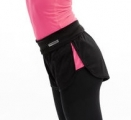 Pastorelli Microfiber Black shorts with pink inserts