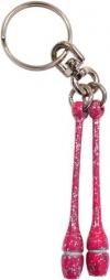 Pastorelli Glitter Fluo Pink miniclubs key ring, Art. 00185