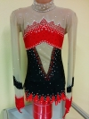 Leotard for competitions, used. For height: 126-136 cm